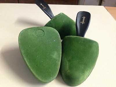 Harrods!  -  Vintage   Green Felt/plastic   Shoe   Horns!  -  Small  -  Used