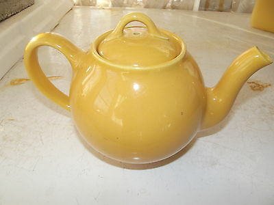 Mustard Yellow Lipton Tea Teapot By Hall Vintage Advertising