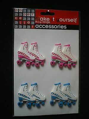 Brand New 'Papercellar - Retro Roller Boots' 3D Toppers pack