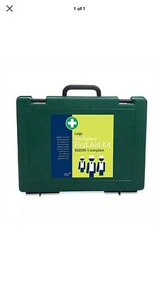 1 LARGE Workplace First Aid Kit In Green Cambridge Box