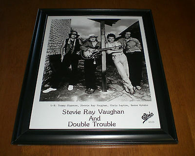 Stevie Ray Vaughan & Double Trouble Framed B&w Print