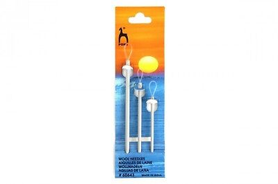 Pony wool needles, set of 3 sewing needles with large eye, ideal for wool.