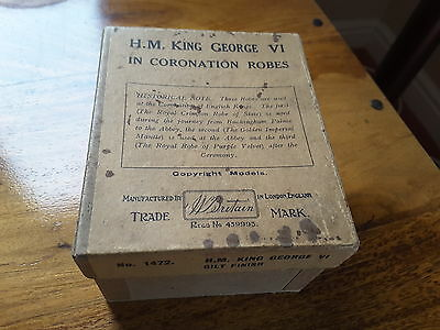 W Britain Vintage  Lead King George Vi In Coronation Robes Boxed