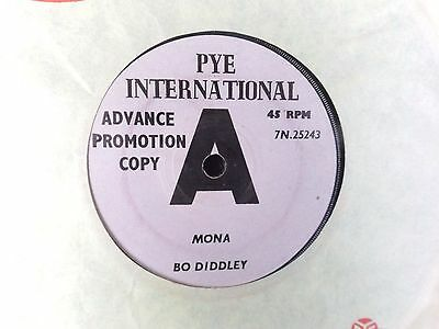 BO DIDDLEY mona / gimme gimme 1964 PYE INT DEMO MINT mod rhythm & blues