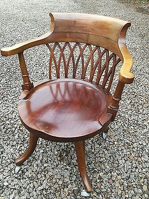 Edwardian Mahogany Office . Desk Chair
