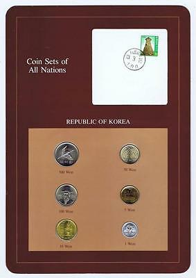 Republic of Korea pc Mint Set BU 1983 Coin Sets of All Nations stamp