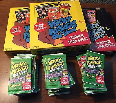 3 Boxes of 24 Unopened Packs of Topps Wacky Packages Old School 4 LUDLOW VARIANT