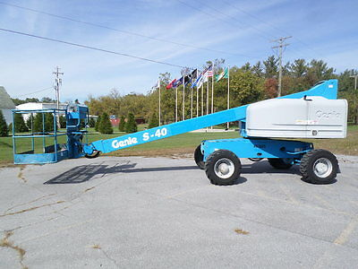 2007 Genie S40 40' Boom Lift 40Ft Man Lift Manlift Straight Stick Boomlift