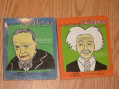 LOT of 2 Board BOOKS by David Butler: A Question of Leadership & Existence