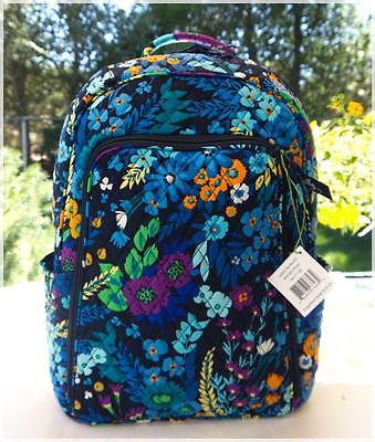Nwt $109 Vera Bradley Laptop Backpack ❤️ Midnight Blue - Large & Easy Laptop Acc