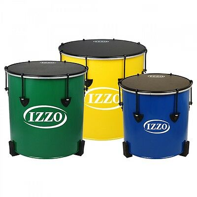 Izzo Set of 3 Surdos - Multicoloured (16, 14 and 12 in)