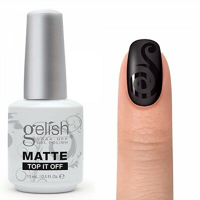 Harmony Gelish Soak Off Gel -MATTE TOP IT OFF 0.5oz/15ml