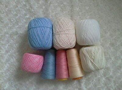 Mixed lot of size 10 Crochet Cotton