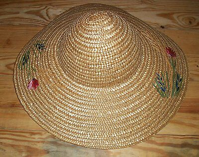 Vintage Women's Straw Hat Made in Italy