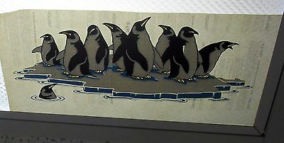 "1980S Vintage T-Shirt Iron-On Lot (25) 11X6"" *penguins On An Iceberg* For Kids M"