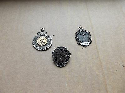 Vintage Selection of 2 Medallions & 1 Badge.