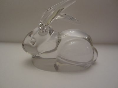 EASTER!! Signed Daum France Glass Crystal Rabbit.  Rare, priced to sell.
