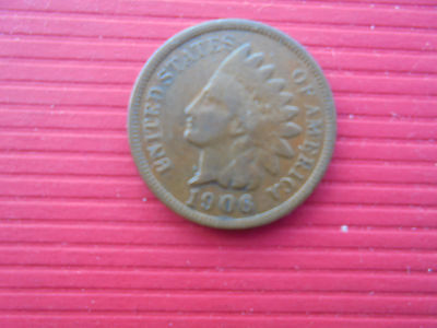 """1 Cent """" Indian Head"""" 1906 (Us)"""