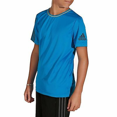 Adidas Performance Boys Fitness Top T-Shirt Youth AGE 16 SIZE 176cm Tee Shirt