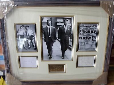 The Kray Twins Reggie And Ronnie Signed Montage