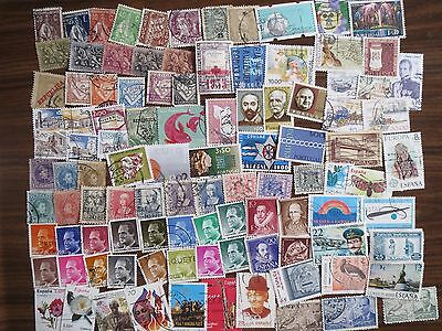 100 different PORTUGAL & SPAIN  STAMPS