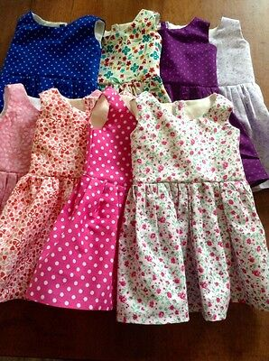 "Fits American Girl Lot 18"" Doll Dolls Clothes ***wholesale Lot ** 8 Dresses **"
