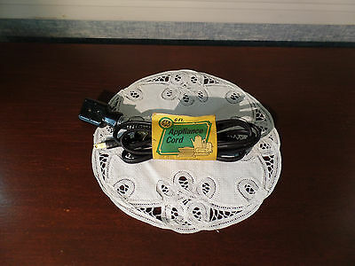New Old Stock Vintage GE General Electric Small Appliance 6' Power Cord~GE1901-3