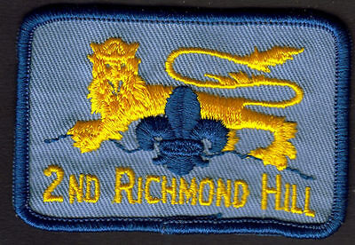 Boy Scouts Canada 2Nd Richmond Hill Ontario Embroidered Patch