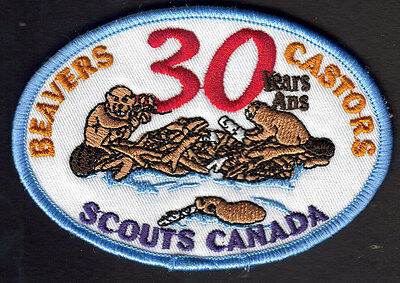 Boy Scouts Canada Beavers 30Th Anniversary Embroidered Patch Canadian Beaver