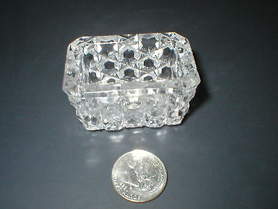 Vintage Crystal  Pressed Glass  Rectangular Open Salt Dips (Lot Of Three)