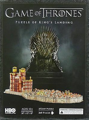 "GAME OF THRONE 3D PUZZLE OF KING`s LANDING (SIZE: 30""x12""x8"" INCH) 260 TEILE NEU"