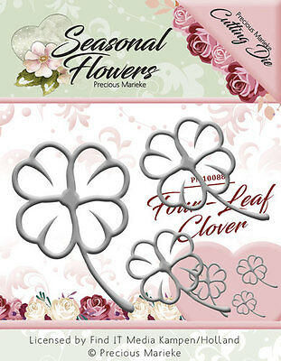 Precious Marieke Seasonal Flowers FOUR LEAF CLOVER 3pc Cutting Die