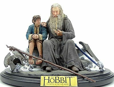 "The Hobbit Battle Of The Five Armies ""silent Reflection"" Gandalf & Bilbo Weta"