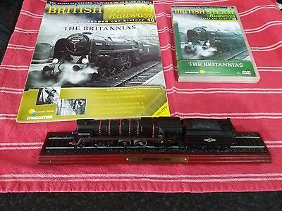 british steam railways issue 48 with dvd and model of 7000 britannia class