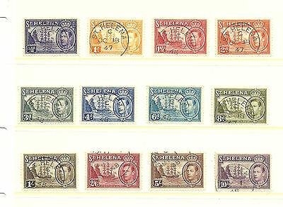 Saint Helena King George definitive stamps fine used SG 131-140 (less 132&135)