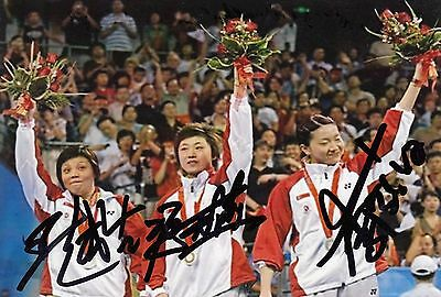 TABLE TENNIS compl.Team *SGP*  > 2.+ 3. Olympics 2008-2012 / TTN - sign. Foto