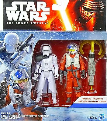 Star Wars The Force Awakens First Order Snowtrooper Officer & Snap Wexley Hasbro