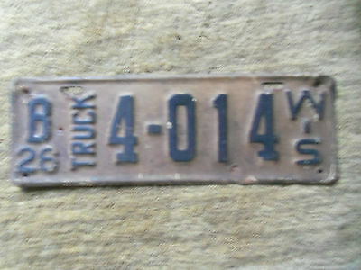 1926  Wisconsin  License Plate Truck   1926  Ford model T Truck ? 1926 Chev?