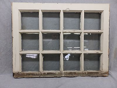 Antique 12 Lite Window Sash Shabby Vintage Old Chic Cottage 191-17R