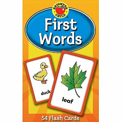 Educational Flash Cards First Words Learning Words Brighter Child Toddler Kids