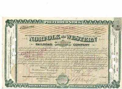 Lot: 4 Norfolk and Western Railroad Company  1888