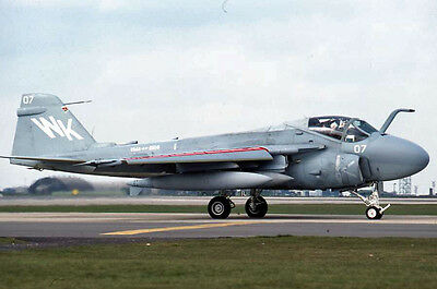 Original 35mm Aircraft Slide 07WK A6 VMA aw224 Apr84.