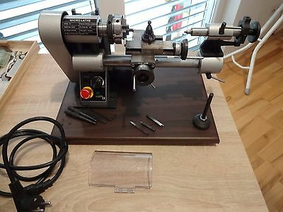 Watch & clock makers 8mm Micro lathe Good condition with some cutting tools