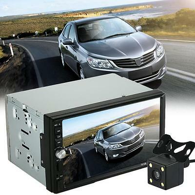 Double 2 Din Car Stereo MP5 MP3 Player Radio Bluetooth USB AUX+Parking Camera OK