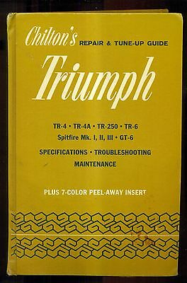 1970 Chilton's Repair and Tune-Up Guide for the Triumph w/Peel-Away Color Insert