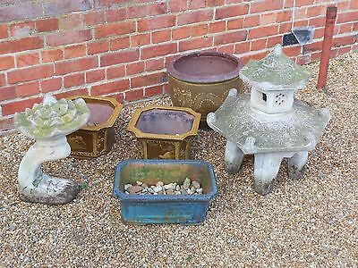 Chinese Japanese Oriental Garden Pots and Temples