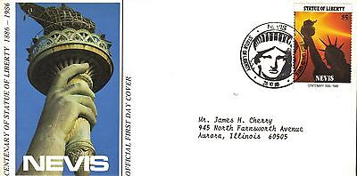 Nevis First Day Cover 1986 Centennial Of The Statue Of Liberty
