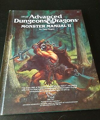advanced dungeons and dragons minster manual 2, tsr 1983