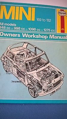 Mini Mini Cooper S Haynes Manual 69-82
