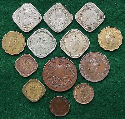 Collection of Anna Coins from British India, Dates Range from 1835 to 1944